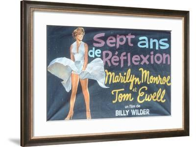 Poster Advertising the Film 'Sept Ans De Reflexion'--Framed Giclee Print