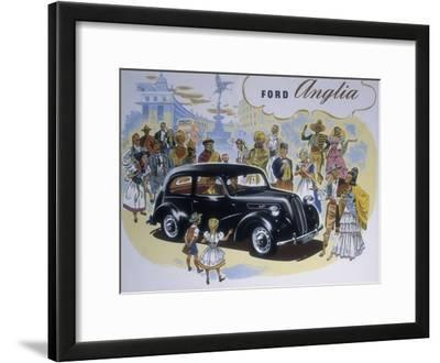 Poster Advertising the Ford Anglia Car