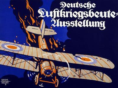 Poster Advertising the German Air War Booty Exhibition, 1918-Siegmund von Suchodolski-Giclee Print