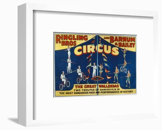 Poster Advertising the Great Wallendas at the 'Ringling Bros. and Barnum and Bailey Circus'-American-Framed Premium Giclee Print