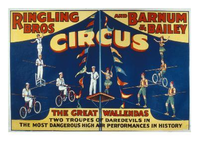 Poster Advertising the Great Wallendas at the 'Ringling Bros. and Barnum and Bailey Circus'-American-Giclee Print