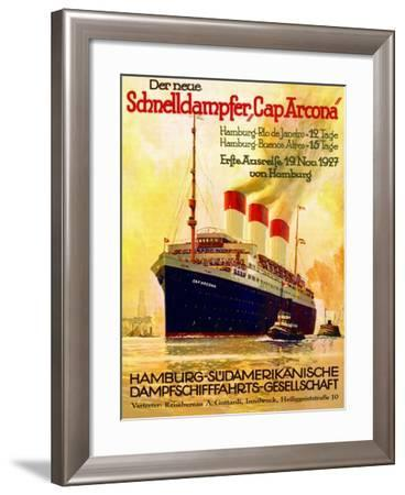 Poster Advertising the Hamburg Southern Line, 1927--Framed Giclee Print