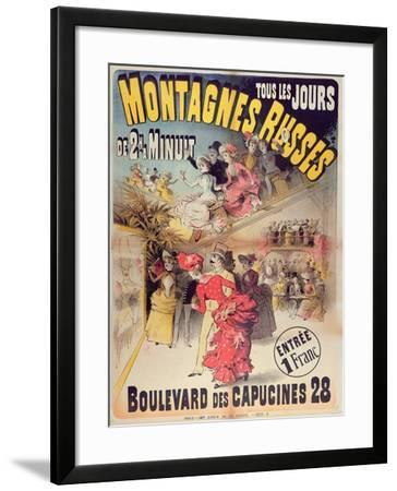 Poster Advertising the 'Montagnes Russes' Roller Coaster in the Boulevard Des Capucines, Paris 1888-French-Framed Giclee Print