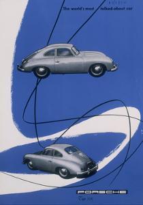 Poster Advertising the Porsche 356, 1955