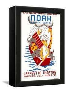 Poster Advertising the Production Noah at the Lafayette Theatre, New York.