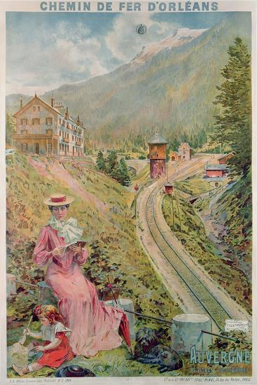 Poster Advertising the Resort of 'Le Lioran, Auvergne' with the 'Chemins De Fer D'Orleans', 1904--Giclee Print