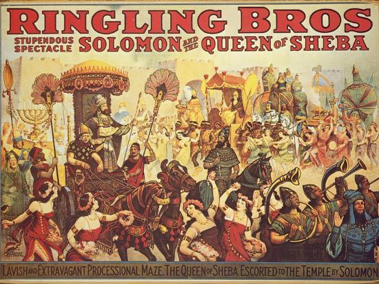 Poster Advertising the 'Ringling Bros.' Circus, c.1900-American School-Giclee Print