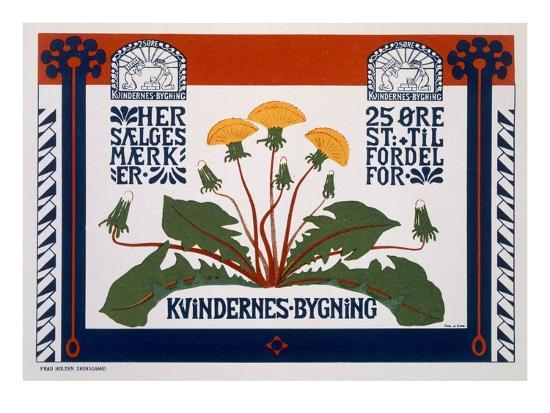 Poster Advertising the Womens' Building, Late 19th-Early 20th Century (Colour Litho)- Danish-Giclee Print