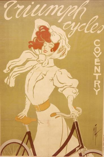 Poster Advertising Triumph Bicycles, 1907-Misti-Giclee Print