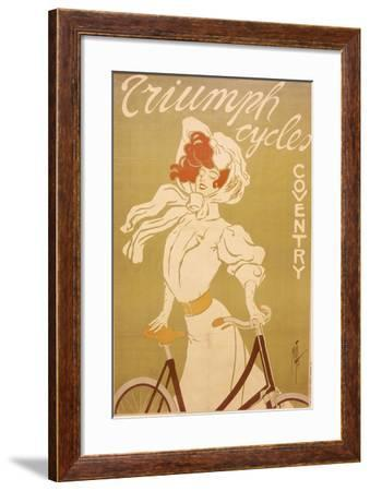 Poster Advertising Triumph Bicycles, 1907-Misti-Framed Giclee Print