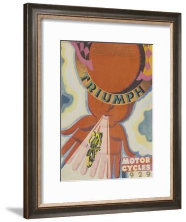Poster Advertising Triumph Motor Bikes, 1929--Framed Giclee Print