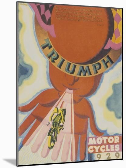 Poster Advertising Triumph Motor Bikes, 1929--Mounted Giclee Print