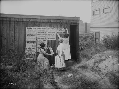 Poster Brigade: Three Women Suffragists in Seattle, WA, 1910-Ashael Curtis-Giclee Print