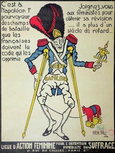 Poster Demanding the Repeal of the Napoleonic Code by the 'Ligue D'Action Feminine', 1926--Giclee Print