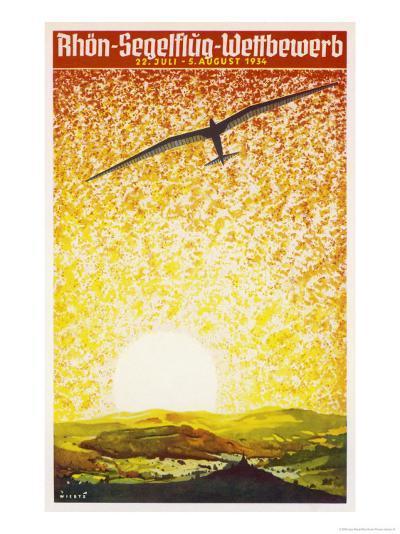 Poster for a German Gliding Meeting-Jupp Wiertz-Giclee Print