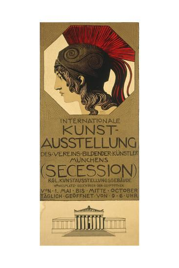 Poster for an Exhibition of Secessionist Art, Ca. 1898-Franz von Stuck-Giclee Print
