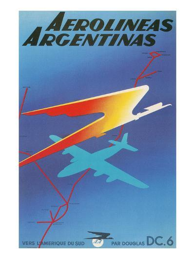 Poster for Argentine Airlines--Art Print