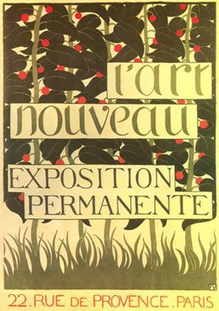 Poster for Art Nouveau Exhibition
