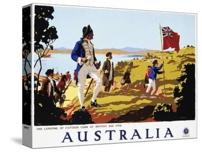 Poster for Australia Showing the Landing of Captain Cook at Botany Bay in 1770