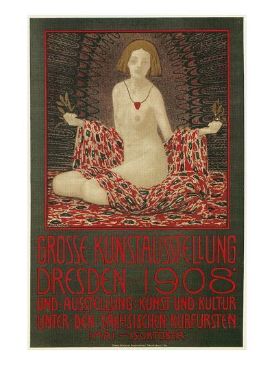 Poster for Dresden Art Exhibition--Art Print