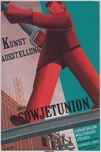 Poster for Exhibit of Soviet Art in Zurich