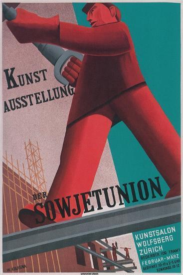 Poster for Exhibit of Soviet Art in Zurich--Giclee Print