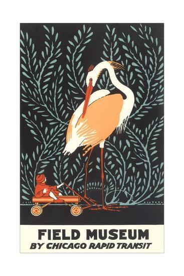 Poster for Field Museum with Giant Heron--Giclee Print