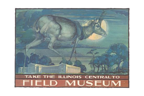 Poster for Field Museum with Horned Antelope--Giclee Print