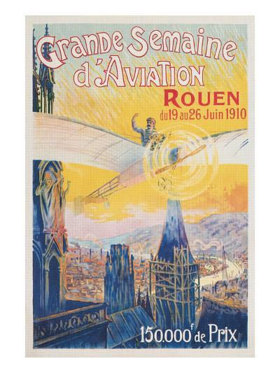 Poster for French Airshow, Rouen 1910--Art Print