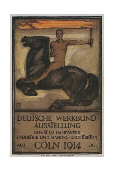 Poster for German Domestic Arts Exhibition--Giclee Print