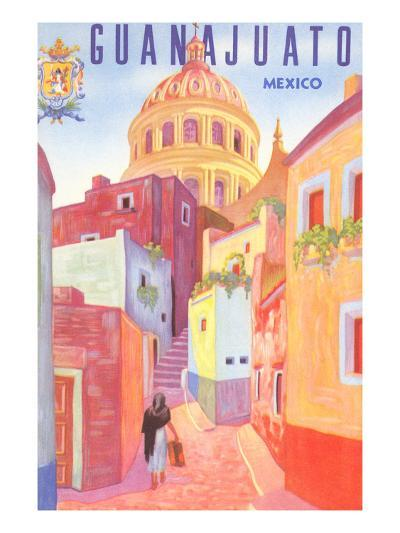 Poster for Guanajuato, Mexico, Colonial Streets--Art Print