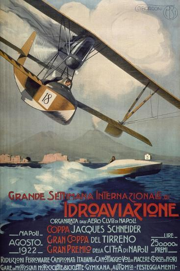 Poster for International Week of Hydro-Airplanes (Schneider Cup--Giclee Print
