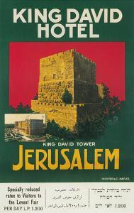 Poster for King David Hotel, Jerusalem
