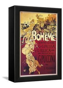 Poster for La Boheme, Opera by Giacomo Puccini, 1895