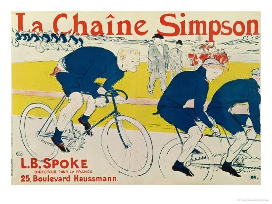Poster for La Chaine Simpson, Bicycle Chains, 1896-Henri de Toulouse-Lautrec-Premium Giclee Print