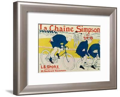 Poster for La Chaine Simpson, Bicycle Chains, 1896-Henri de Toulouse-Lautrec-Framed Giclee Print