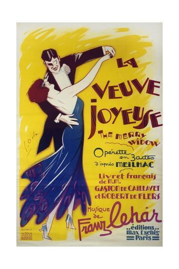 Poster for La Veuve Joyeuse--Giclee Print