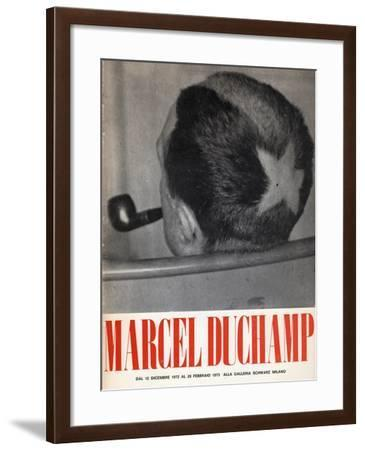 Poster for 'Marcel Duchamp: 66 Creative Years from the First Painting to the Last Drawing'--Framed Giclee Print