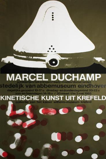 Poster for Marcel Duchamp at the Van Abbemuseum, Eindhoven, 1965--Giclee Print