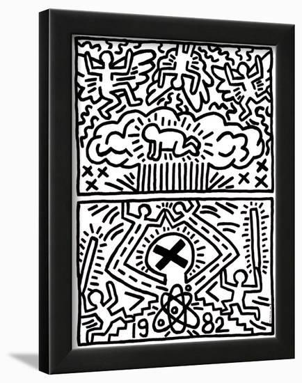 Poster for Nuclear Disarmament-Keith Haring-Framed Giclee Print