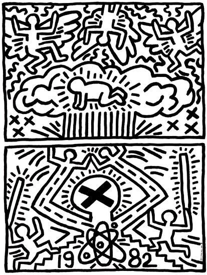 Poster for nuclear disarmamentby keith haring