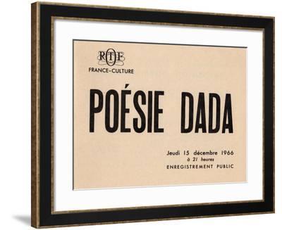 Poster for 'Poésie Dada', 1966--Framed Giclee Print