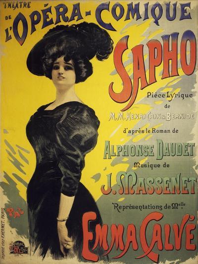 Poster for Sapho, Opera-Henri Cain-Giclee Print