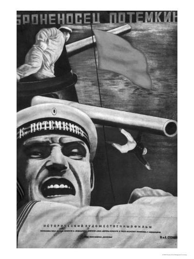 "Poster for Sergey Eisenstein's Film, ""Battleship Potemkin""--Giclee Print"