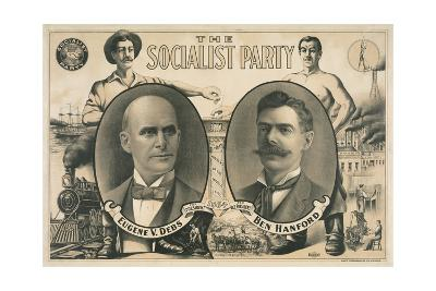 Poster for Socialist Presidential Ticket of 1904--Giclee Print