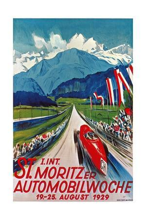 Poster for St. Moritz Car Show--Giclee Print