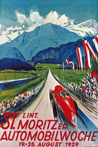 Poster for St. Moritz Car Show