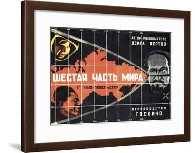 Poster for the Film the Sixth Part of the World, 1926-Alexander Naumov-Framed Giclee Print
