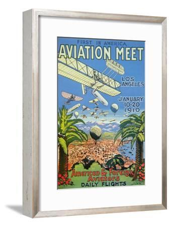 Poster for the First America Aviation Meet, Los Angeles, 1910