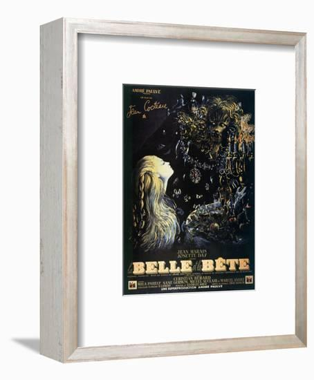 Poster for the Jean Cocteau Film 'La Belle Et La Bete', 1946--Framed Giclee Print